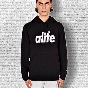ALIFE Black quilted hoodie